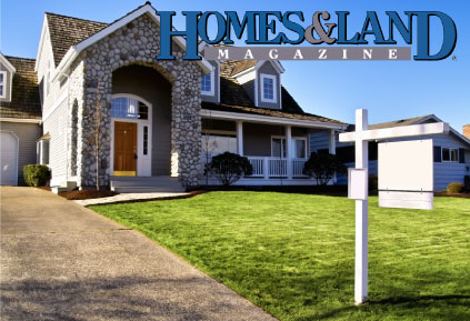 Homes and Land Magazine cover